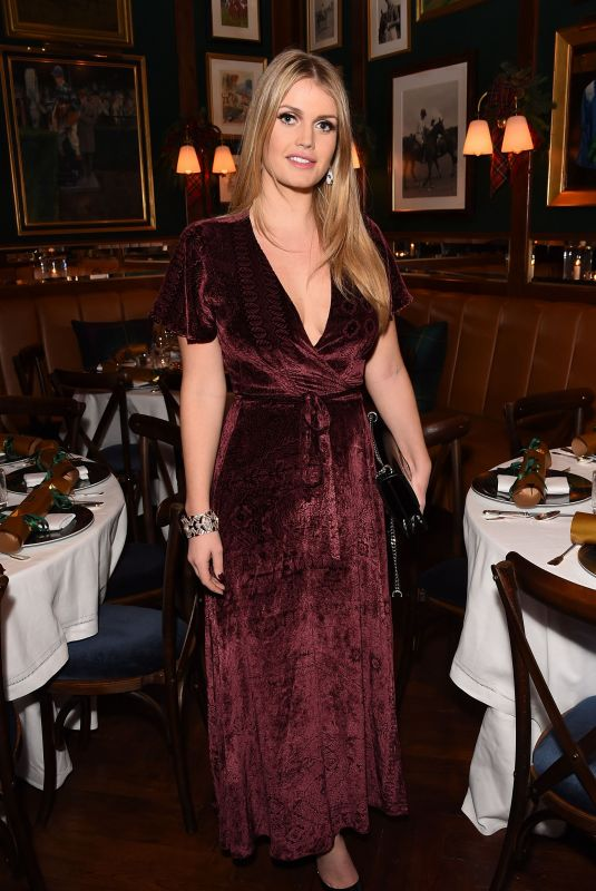 KITTY SPENCER at Polo Bear Holiday Dinner at Ralph's Coffee & Bar in London 12/05/2017