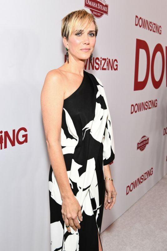 KRISTEN WIIG at Downsizing Premiere in Westwood 12/18/2017