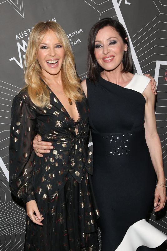 KYLIE MINOGUE and TINA ARENA at Australian Music Vault Launch in Melbourne 12/18/2017