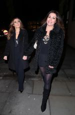 KYM MARSH and ALISON KING at Coronation Street Christmas Party in Manchester 12/08/2017