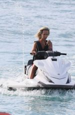 LADY VICTORIA HERVEY at Jet Ski Ride in Barbados 12/29/2017
