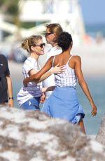 LAIS RIBEIRO and MARTHA HUNT at a Beach in Miami 12/01/2017