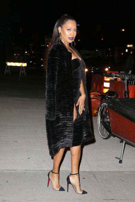 LALA ANTHONY Night Out in New York 12/12/2017