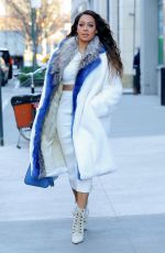 LALA ANTHONY Out and About in New York 12/22/2017