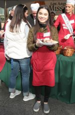 LANDRY BENDER at LA Mission Serves Christmas to the Homeless in Los Angeles 12/22/2017