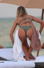 LAURA STONER in Bikini at a Beach in Miami 12/18/2017