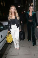 LAUREN POPE and CHLOE SIMS Out in London 12/07/2017