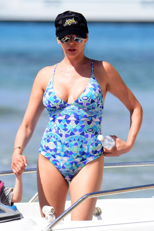 LAUREN SILVERMAN and Her Mom CAROLE DAVIS in Swimsuits at a Beach in Barbados 12/23/2017