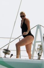 LEA DURHAM in Swimsuit at a Boat in Barbados 12/27/2017