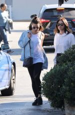 LEA MICHELE and ASHLEY TISDALE Out for Lunch at Brentwood Country Mart 12/03/2017