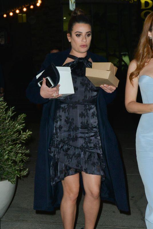 LEA MICHELE at Terroni Restaurant in Los Angeles 12/06/2017