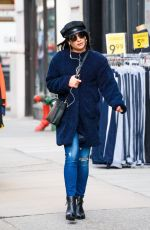 LEA MICHELE Out and About in New York 12/19/2017