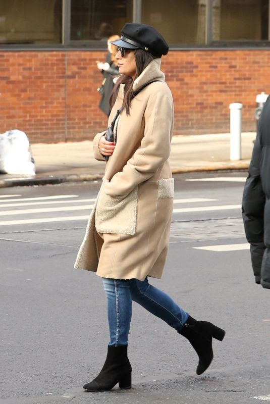 LEA MICHELE Out for Lunch in New York 12/18/2017