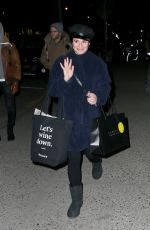 LEA MICHELE Out Shopping in New York 12/21/2017