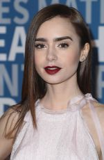 LILY COLLINS at 6th Annual Breakthrough Prize Ceremony in Mountain View 12/03/2017