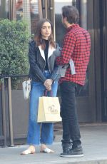 LILY COLLINS Out for Lunch in Los Angeles 12/08/2017