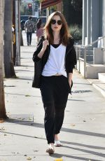 LILY COLLINS Out for Lunch in West Hollywood 12/02/2017