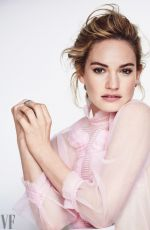 LILY JAMES for Vanity Fair, November 2017 Issue