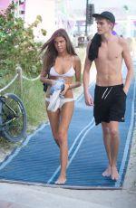 LILY MOULTON in Bikini and Presley Gerber at a Beach in Miami 12/07/2017