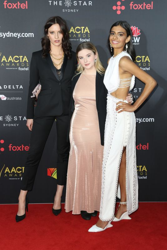 LILY SULLIVAN, RUBY REES and MADELAINE MADDEN at 2017 AACTA Awards in Sydney 12/06/2017