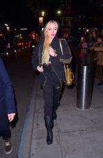 LINDSAY LOHAN Arrives at Madison Square Garden in New York 12/08/2017