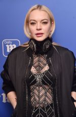LINDSAY LOHAN at Daily Mail Holiday Party in New York 12/06/2017