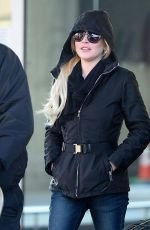 LINDSAY LOHAN at JFK Airport in New York 12/04/2017