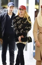 LINDSAY LOHAN at JFK Airport in New York 12/19/2017