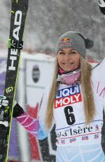 LINDSEY VONN  Wins Fis World Cup Super G in France 12/16/2017