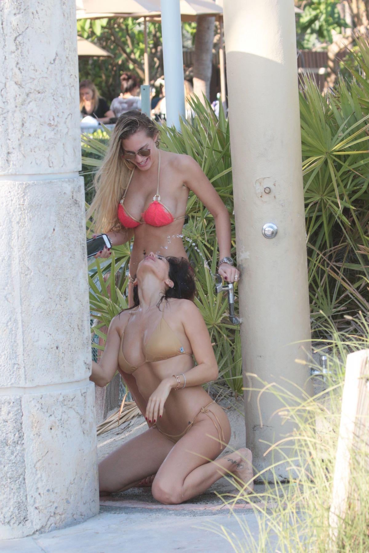 Livia Canalis and Francesca Brambilla in Bikini in Miami Beach Pic 2 of 35