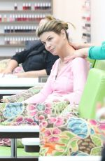 LORI LOUGHLIN at a Nail Salon in Beverly Hills 12/26/2017