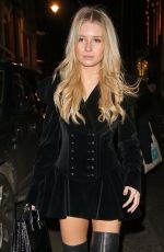 LOTTIE MOSS Leaves Connaught Hotel in London 12/08/2017
