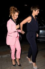 LOUISE REDKNAPP and FRANKIE BRIDGE Night Out in Liverpool 12/28/2017