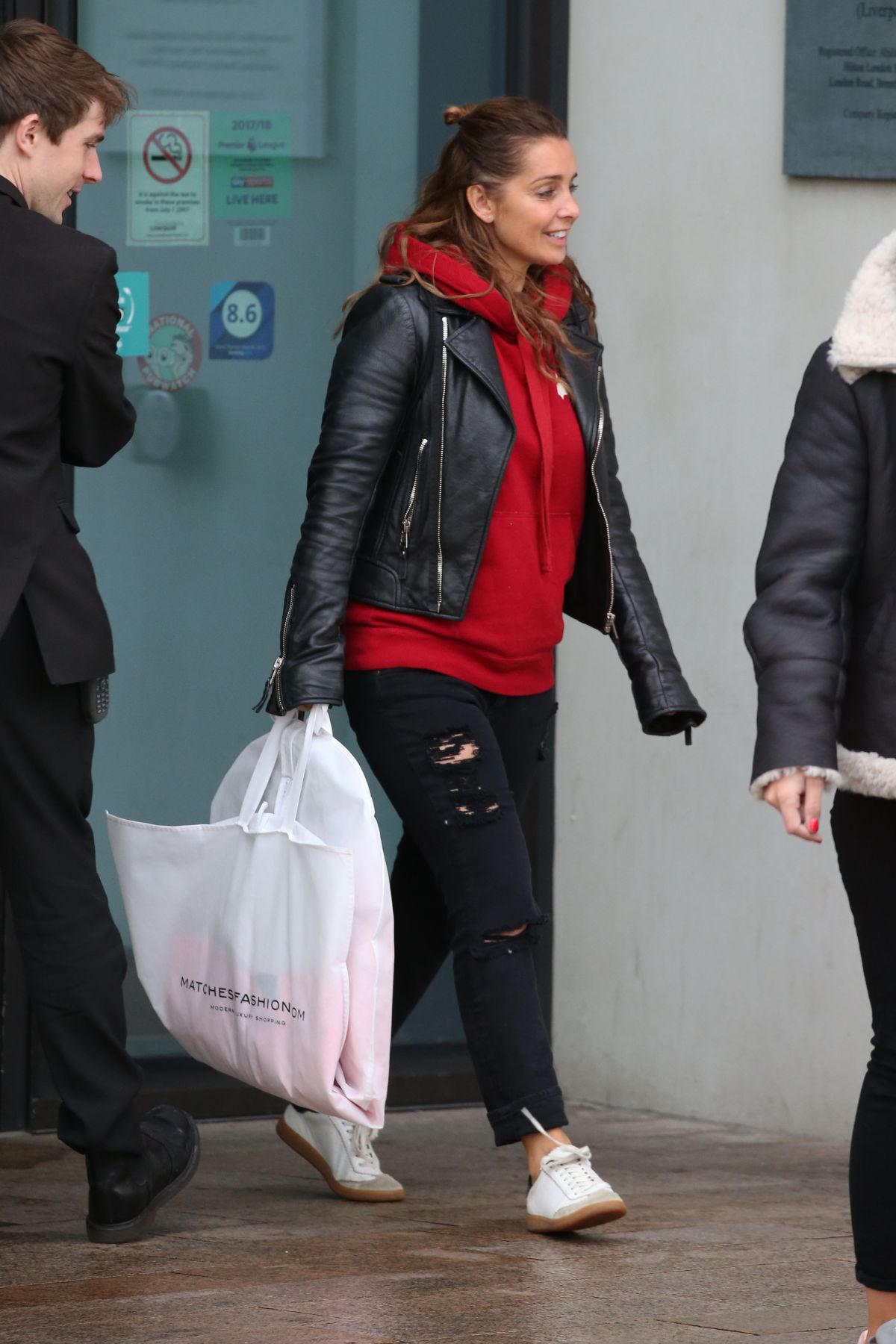 LOUISE REDKNAPP Leaves Hilton Hotel In Liverpool 12/29