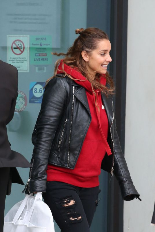 LOUISE REDKNAPP Leaves Hilton Hotel in Liverpool 12/29/2017