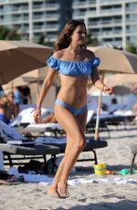 LUCY ARAGON in Bikini Does Yoga at a Beach in Miami 12/08/2017