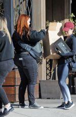 LUCY HALE Leaves Granville Restaurant in Studio City 12/25/2017