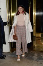 LUCY MECKLENBURGH Leaves Isabel Restaurant in London 11/30/2017