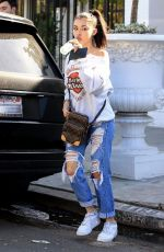 MADISON BEER in Ripped Jeans Out Shopping in West Hollywood 11/30/2017