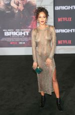 MAGALYN ECHIKUNWOKE at Bright Premiere in Los Angeles 12/13/2017