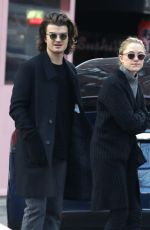 MAIKA MONROE and Joe Keery Out Shopping in New York 11/30/2017