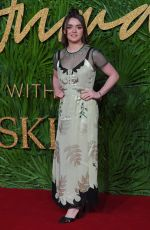 MAISIE WILLIAMS at Fashion Awards 2017 in London 12/04/2017