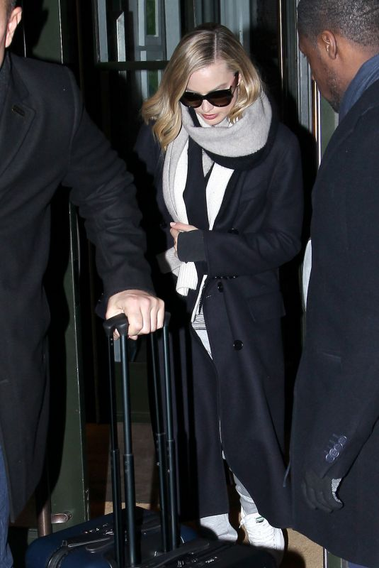 MARGOT ROBBIE Leaves Her Hotel in New York 12/13/2017