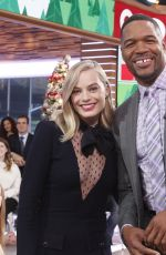 MARGOT ROBBIE on the Set of Good Morning America in New York 11/30/2017