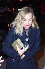 MARGOT ROBBIE Out and About in New York 12/12/2017