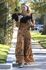 MARGOT ROBBIE Out with Her Dog in Los Angeles 12/11/2017