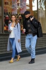MARIA MENOUNOS Shopping at Saint Laurent in Beverly Hills 12/22/2017