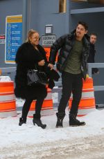 MARIAH CAREY and Bryan Tanaka Shopping at Louis Vuitton Store in Aspen 12/23/2017