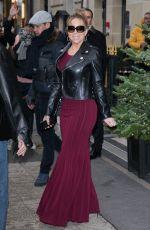 MARIAH CAREY Arrives at Plaza Athenee Hotel in Paris 12/07/2017