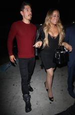 MARIAH CAREY Out for Dinner at Mr. Chow in Los Angeles 12/18/2017